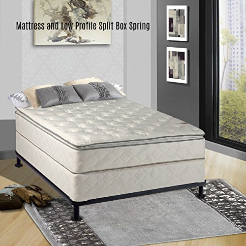 continental sleep medium plush pillowtop orthopedic type mattress and box spring and 5 inch. Black Bedroom Furniture Sets. Home Design Ideas