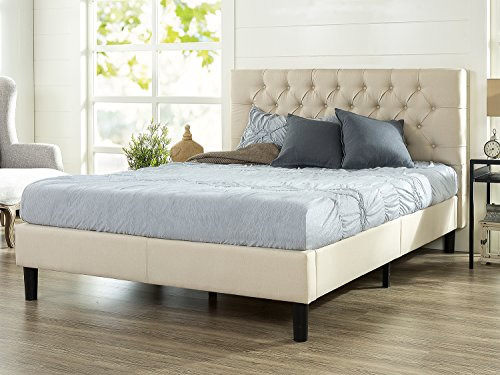 Zinus Upholstered Modern Classic Tufted Platform Bed